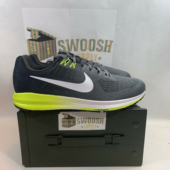 buy online 82bff 4a41f Nike Air Zoom Structure 21 Grey White Volt Men s